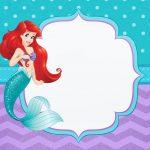 Convite para Festa Pequena Sereia Ariel