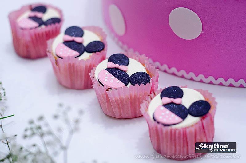 Cupcakes Festa Minnie Rosa da Lívia