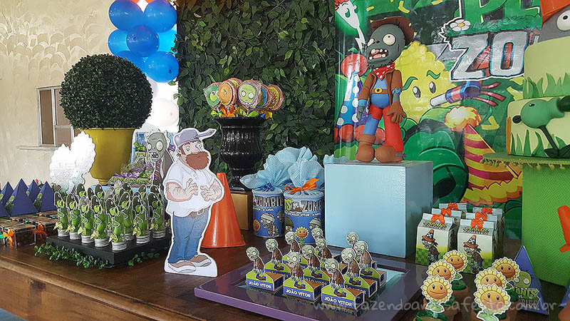 Doces Festa Plants vs Zombies