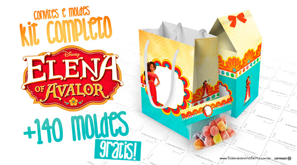 Elena de Avalor Kit Festa Modelo