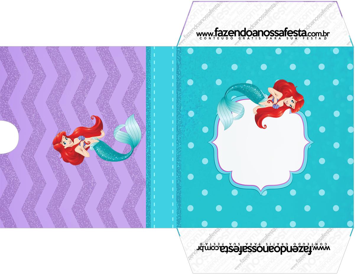 Envelope CD DVD Kit Festa Pequena Sereia