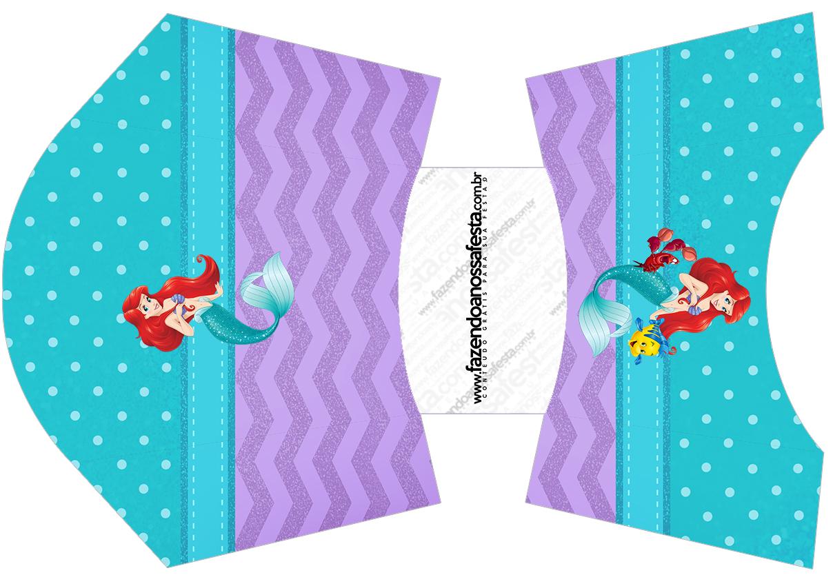 Envelope Fritas Kit Festa Pequena Sereia