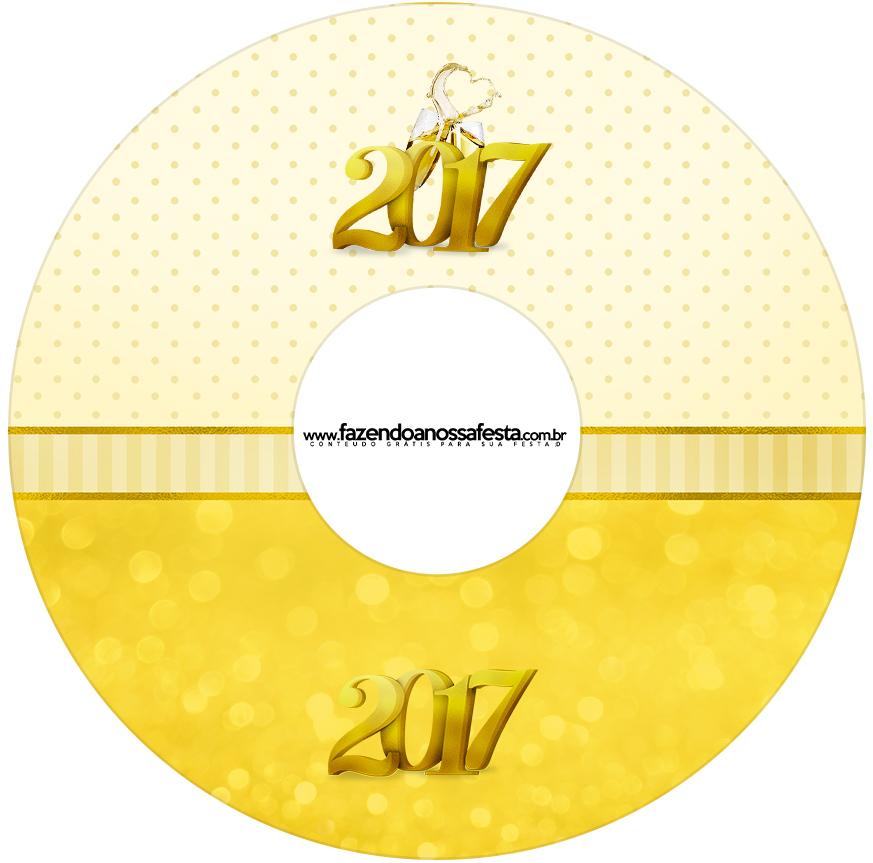 Etiqueta CD DVD Ano Novo 2017