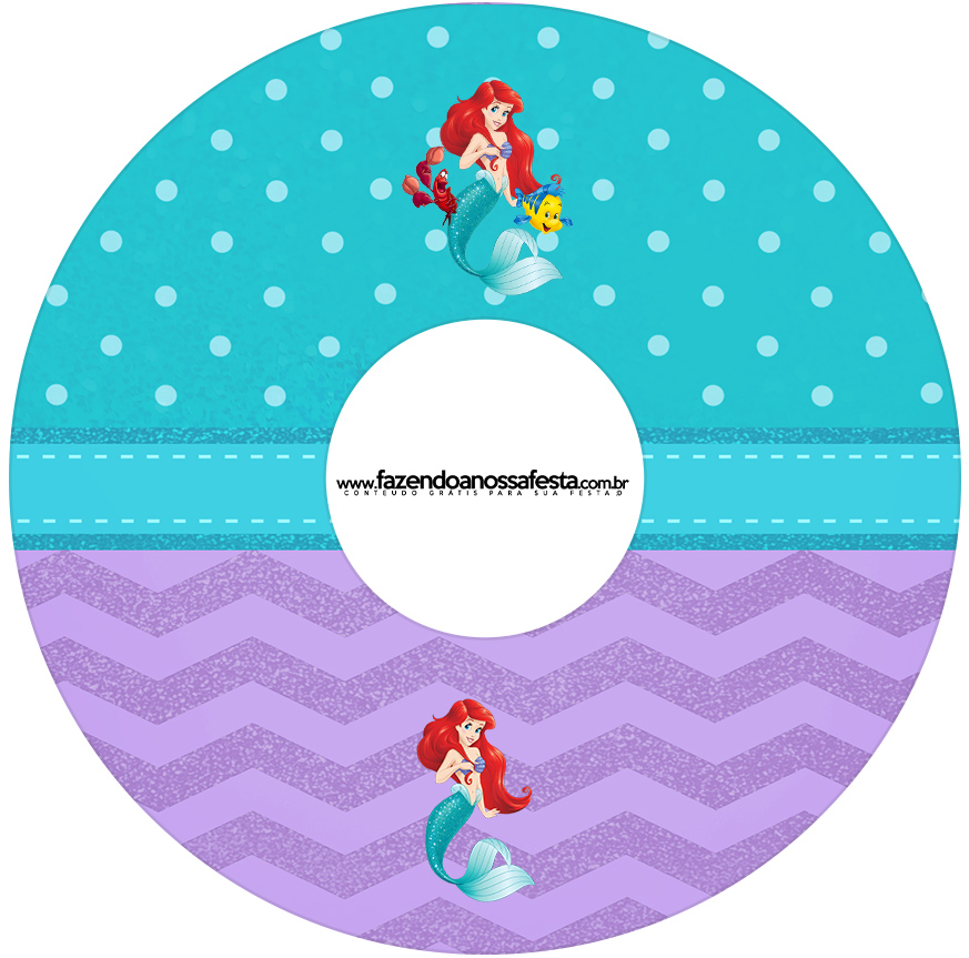 Eitqueta CD DVD Kit Festa Pequena Sereia