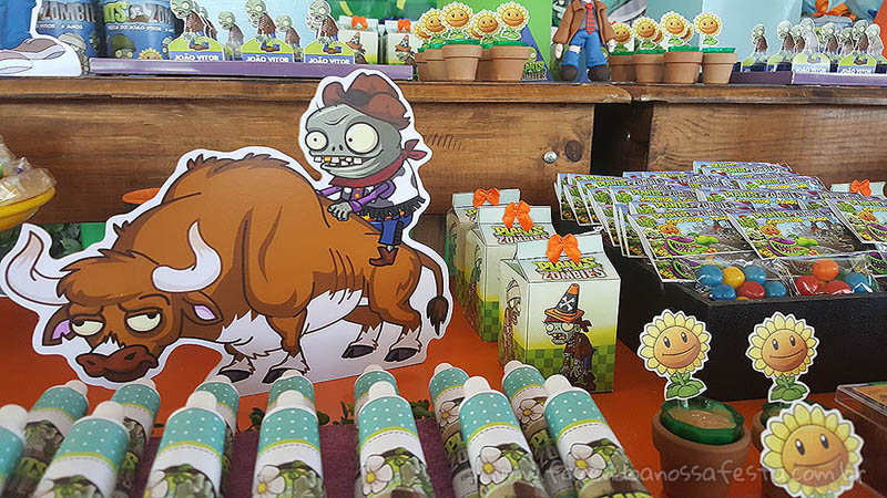 Festa Infantil Plants vs Zombies 5