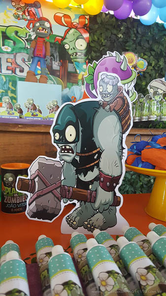 Festa Infantil Plants vs Zombies 7