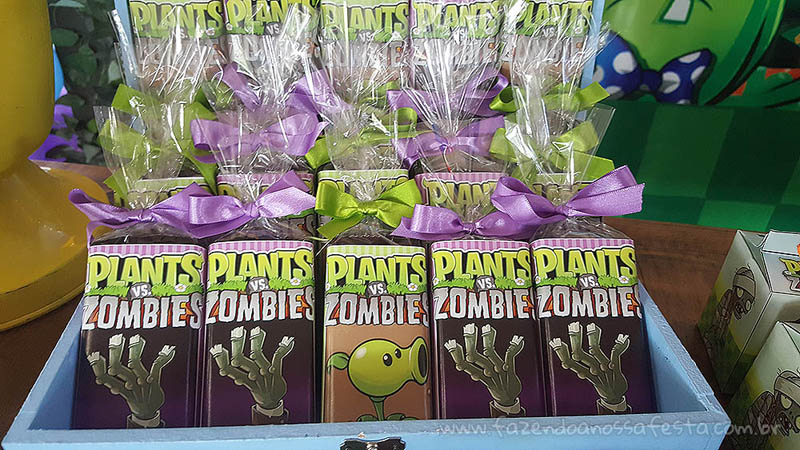 Festa Infantil Plants vs Zombies Chocolate