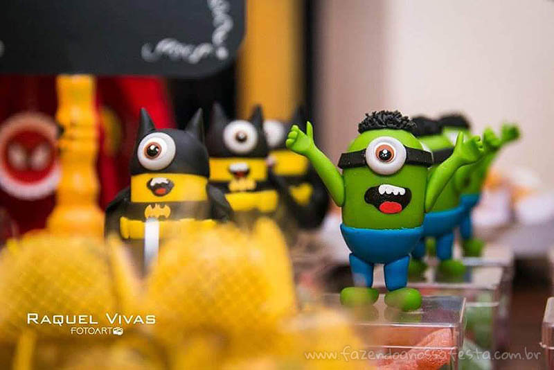 Ideias para Festa Infantil Minions Super-Heróis 6