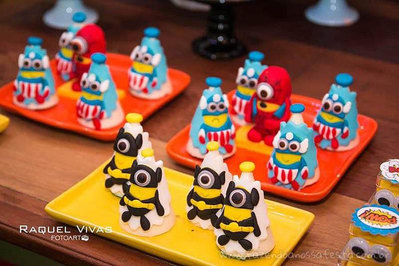 Ideias para Festa Infantil Minions Super-Heróis 8