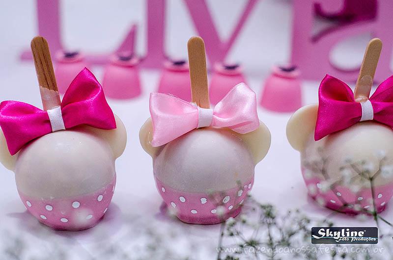Maça do amor Festa Minnie Rosa da Lívia