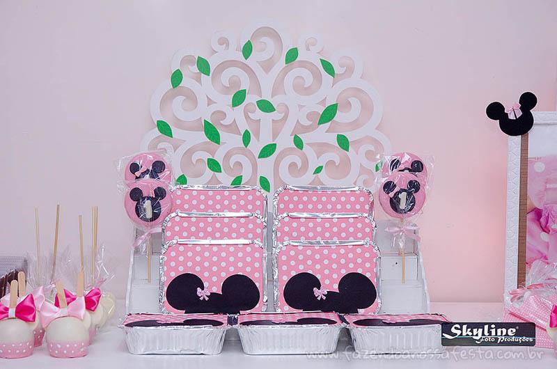 Marmitinhas 2 Festa Infantil Minnie Rosa da Lívia