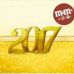 Mini M&M Ano Novo 2017