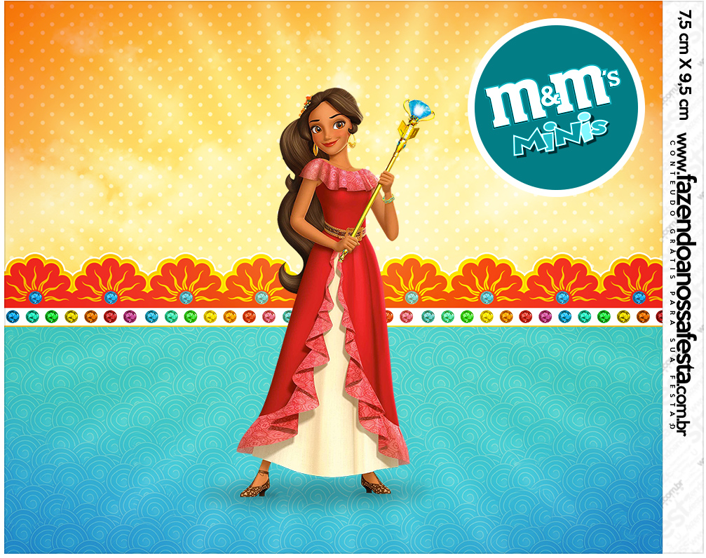Mini M&M Elena de Avalor Kit Festa