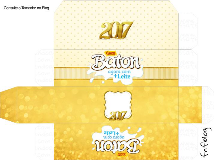 Molde Caixa Baton Ano Novo 2017