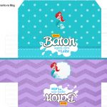 Caixa Baton Kit Festa Pequena Sereia