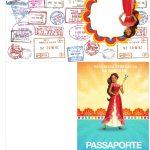 Molde passaporte Elena de Avalor