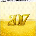 Molde Quadrado Ano Novo 2017