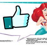 Pequena Sereia Ariel Plaquinhas para fotos 18