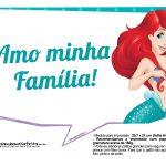 Pequena Sereia Ariel Plaquinhas para fotos 22