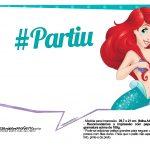 Pequena Sereia Ariel Plaquinhas para fotos 24