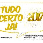 Plaquinhas Ano Novo 2017