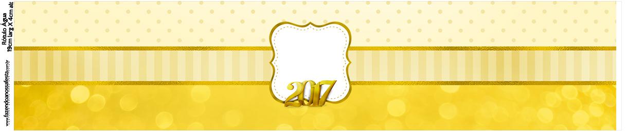 Rótulo Água Ano Novo 2017