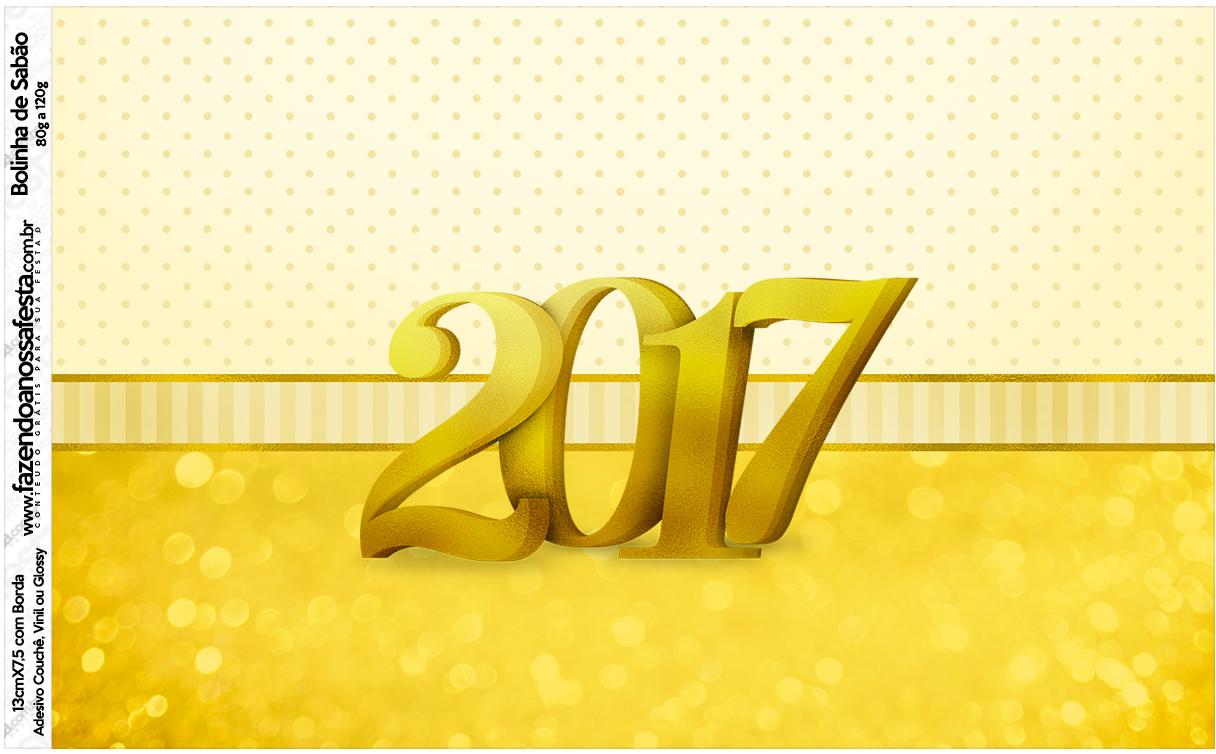 Rótulo Bolinha de Sabão Ano Novo 2017
