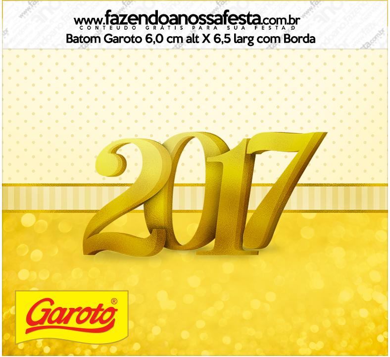 Rótulo Mini Baton Garoto Ano Novo 2017