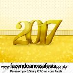 Rótulo Passatempo Ano Novo 2017