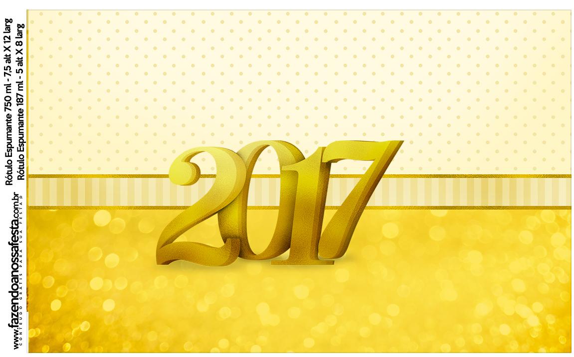 Rótulo Vinho e Espumante Ano Novo 2017