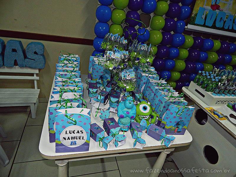 Sacolinha Surpresa Festa Universidade Monstros do Lucas
