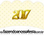 Saias Wrappers para Cupcakes 2 Ano Novo 2017