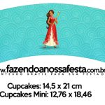 Saias Wrappers para Cupcakes Elena de Avalor