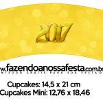 Saias Wrappers para Cupcakes Kit Festa Ano Novo