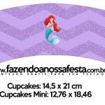 Saias Wrappers para Cupcakes Kit Festa Pequena Sereia