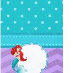 Tag Agradecimento Kit Festa Pequena Sereia Ariel