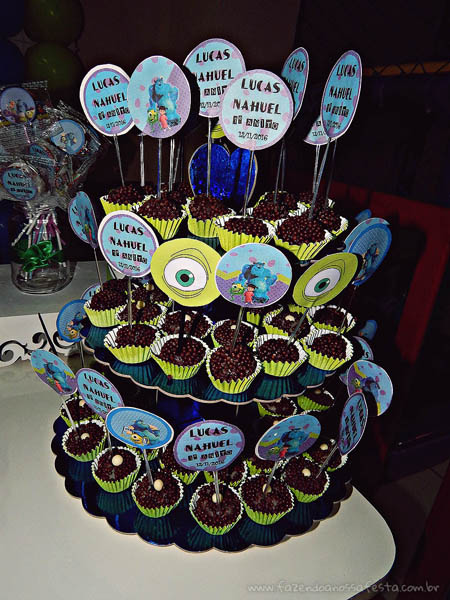 Toppers Festa Infantil Universidade Monstros do Lucas