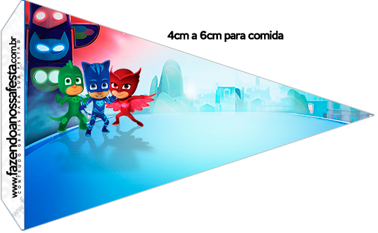 Bandeirinha Sanduiche 1 PJ Masks Kit Festa