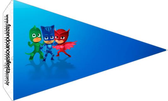 Bandeirinha Sanduíche 4 PJ Masks