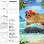 Calendário 2017 2 Moana Kit Festa