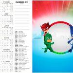 Calendário 2017 2 PJ Masks