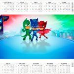 Calendário 2017 PJ Masks