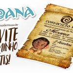 Convite Pergaminho Moana Baby Grátis para Imprimir