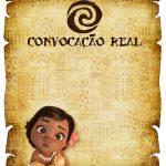 Convite Pergaminho Moana Baby 2