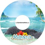 Etiqueta CD DVD Moana Kit Festa