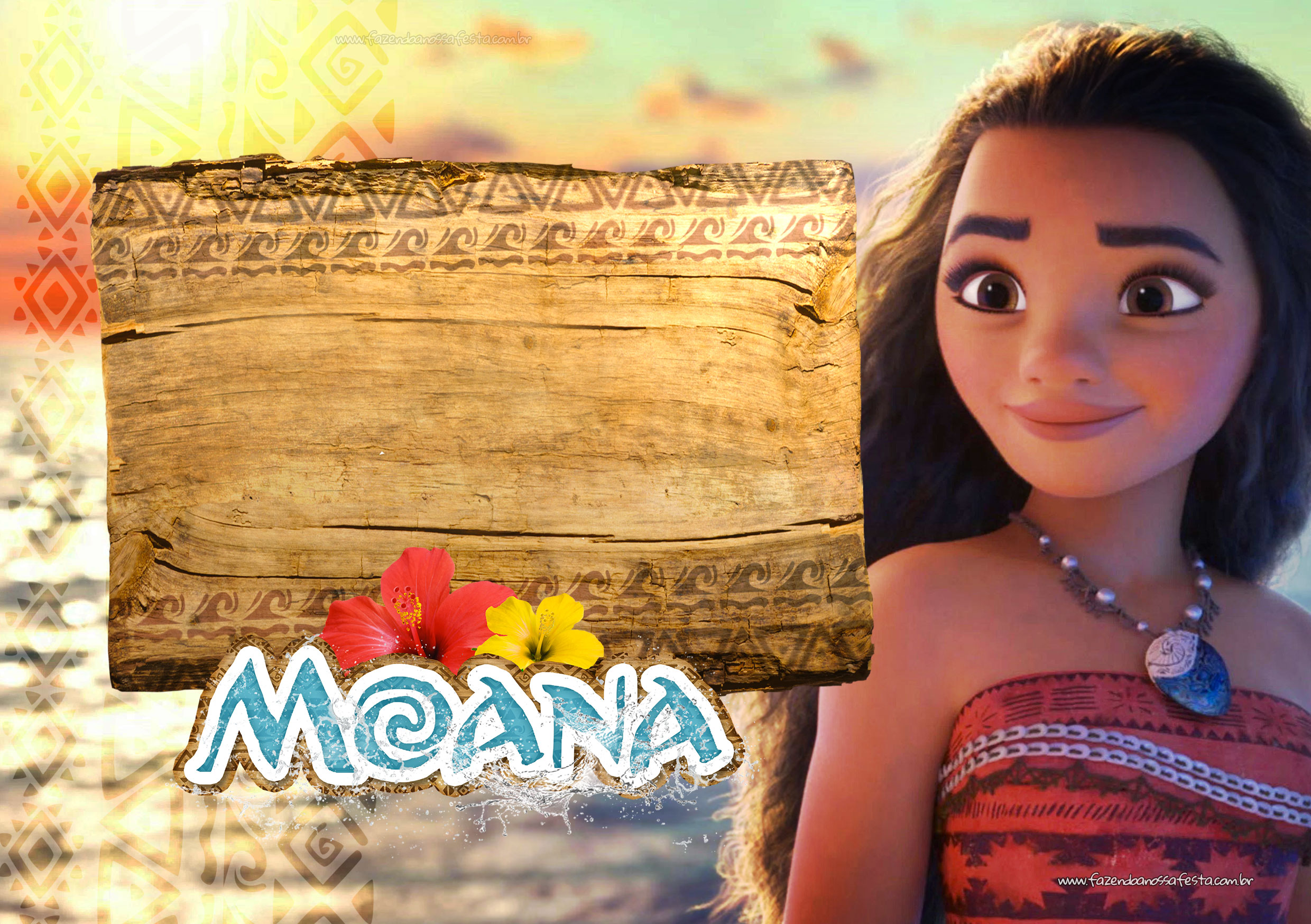 Invitations Moana Party