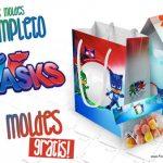 PJ Masks Kit Festa + 140 moldes para Imprimir em Casa