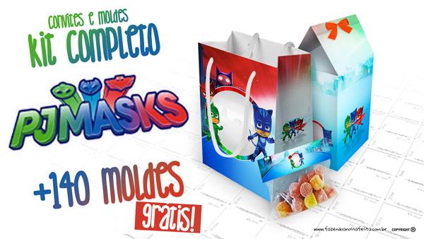 PJ Masks Kit Festa para Imprimir