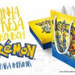Pokémon Sacolinha Surpresa para Imprimir em Casa