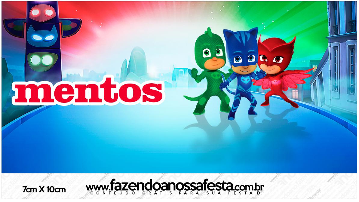 Rótulo Mentos PJ Masks